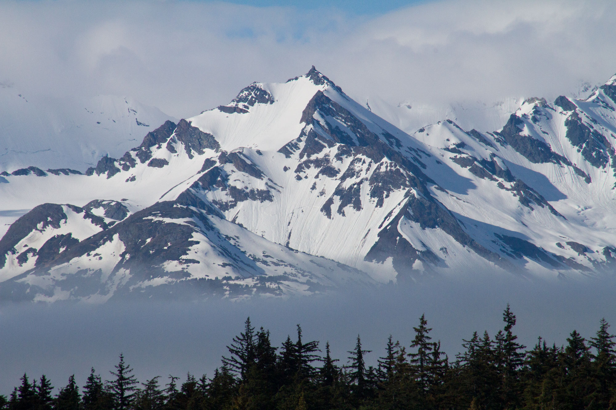 The mountains by Haines, Alaska
