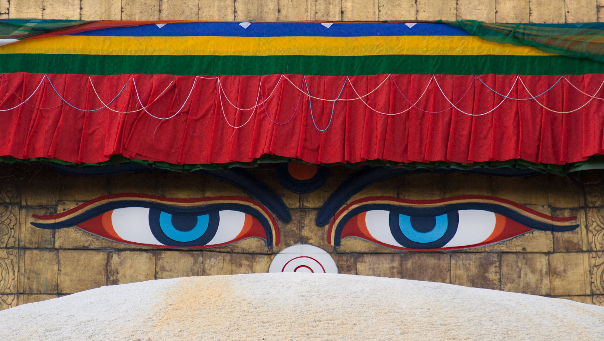 The eyes of Boudhanath stupa