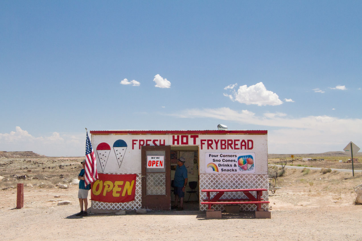 Frybread stand at 4 Corners