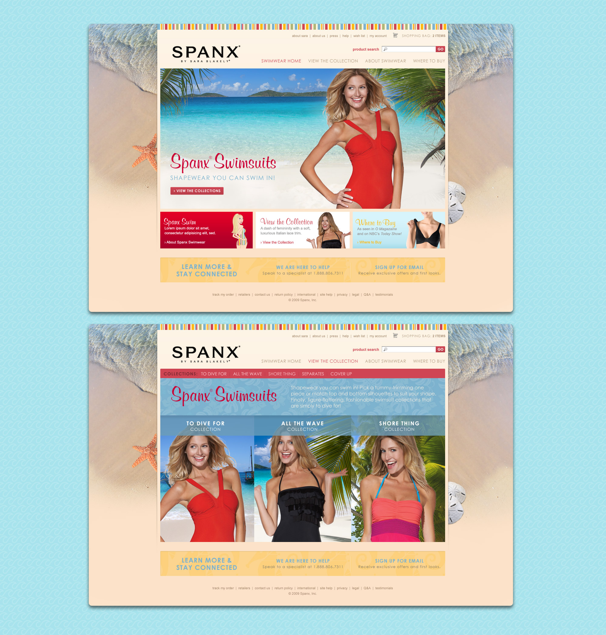 Spanx micro-site pages