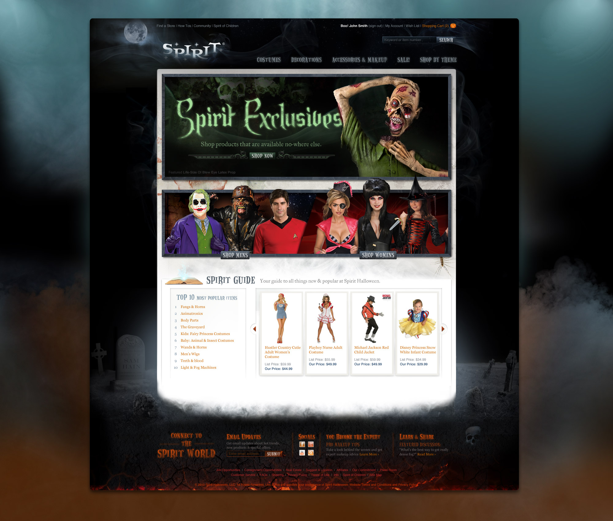 Meja Design : Spirit Halloween